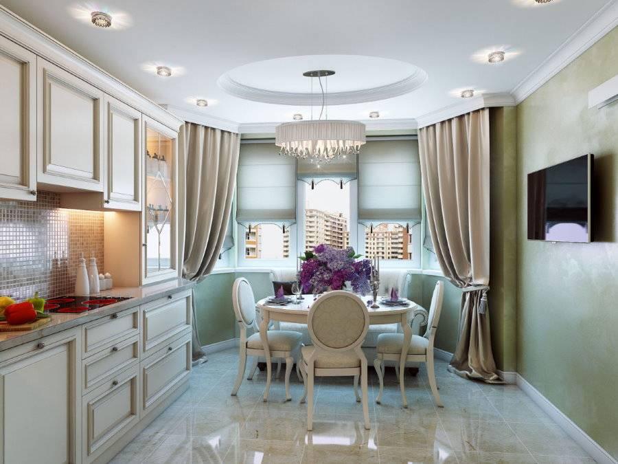 Кухня с эркером: особенности дизайна, примеры планировок и зонирования