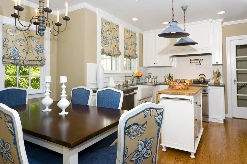 Дизайн кухни в стиле гжель - роспись и узоры в интерьере кухни