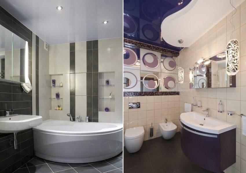 Какой натяжной потолок выбрать для ванной комнаты домой