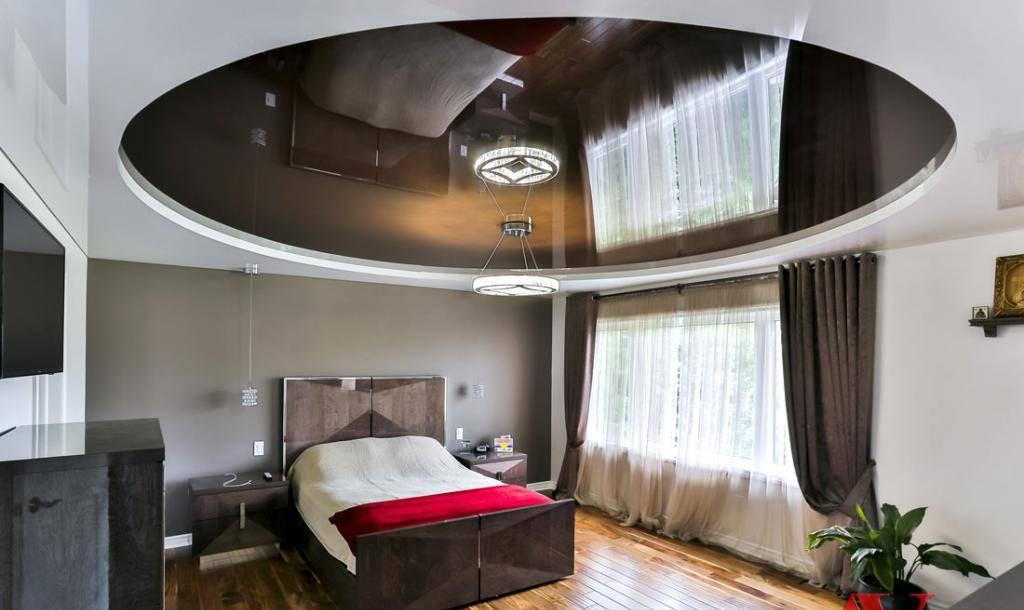 Натяжные потолки в дизайне интерьера спальни