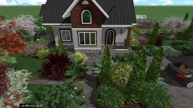 Ландшафтный дизайн дачного участка площадью 5 соток