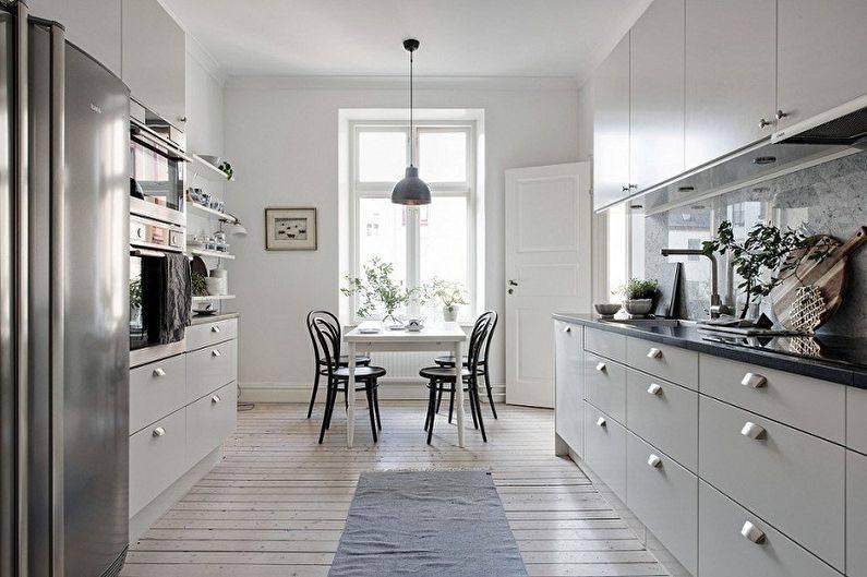 110 идей дизайна кухни с п-образным гарнитуром
