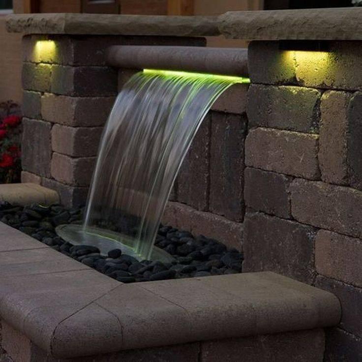 Создание декоративного водопада на участке