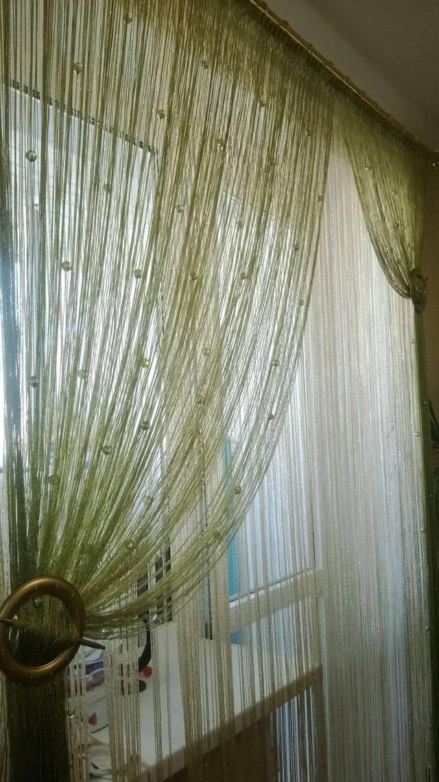 Нитяные шторы — 120 фото необычного оформления и красивого дизайна в современном интерьере