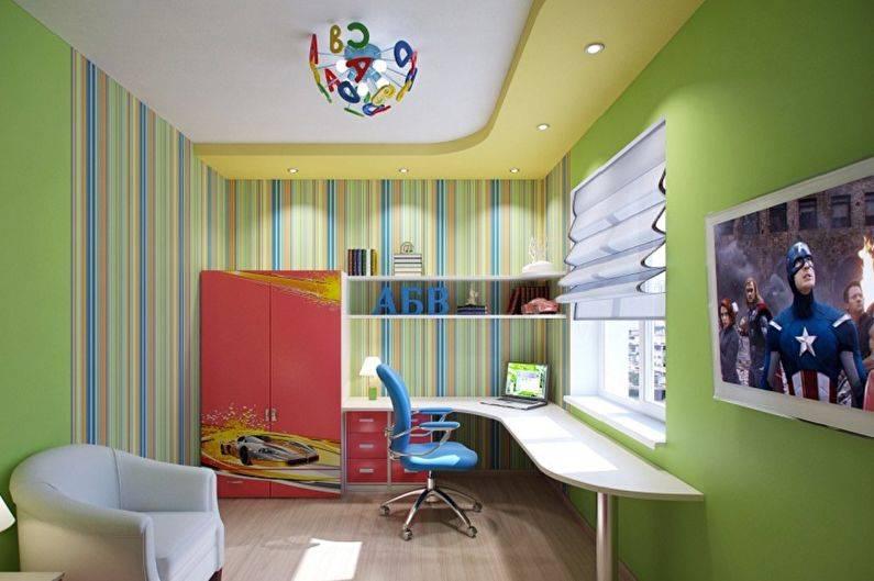 Стильные обои в детскую комнату для мальчиков. даем ребенку возможность самовыразиться + 200 фото