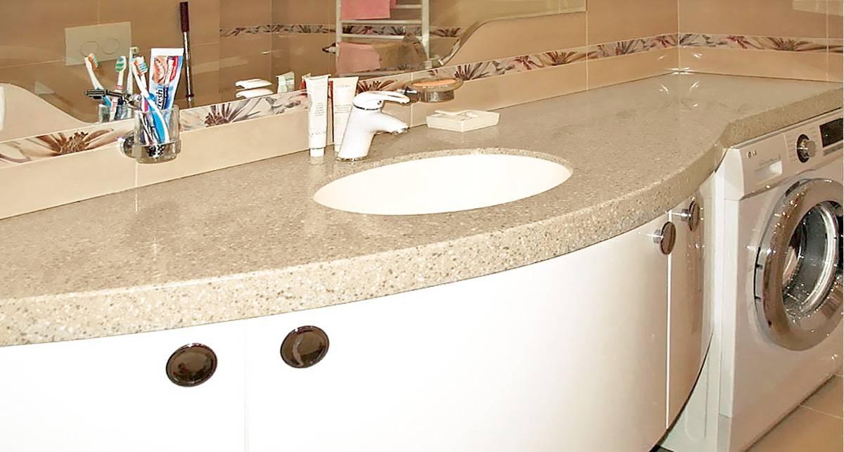 Столешница в ванную комнату: 110 фото современных моделей и особенностей их применения