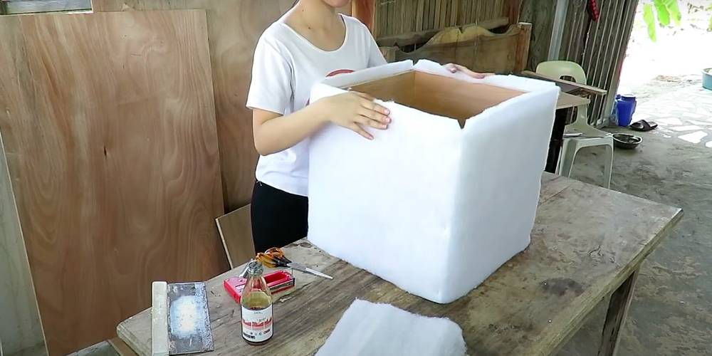 Пуфик своими руками: различные идеи как сделать и обшить красивый и удобный пуф (110 фото + видео)