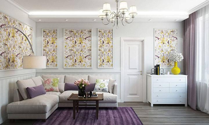 Обои-компаньоны для зала: стильный интерьер, доступный дизайн