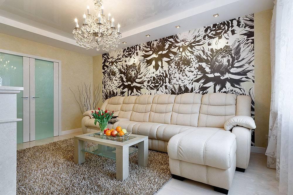 Обои в зал: 165 фото и видео примеров стильного дизайна зальной комнаты. комбинации и красивые сочетания