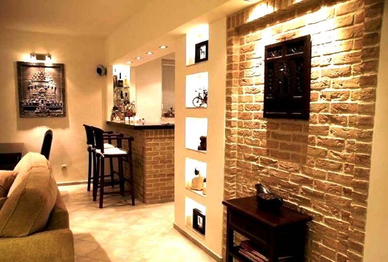 Декоративный кирпич для внутренней отделки +75 фото в интерьере - «декор» » все о сауне