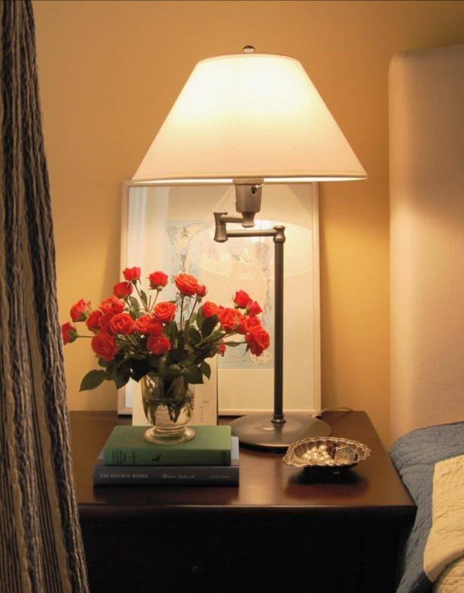 Варианты выбора прикроватных светильников для спальной комнаты