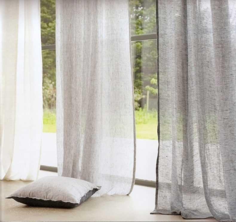 Льняные шторы в интерьере: 80+ фото, избранные идеи оформления