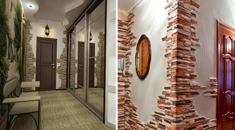 Стены в прихожей: варианты отделки и нюансы применения стильных и красивых прихожих (95 фото + видео)