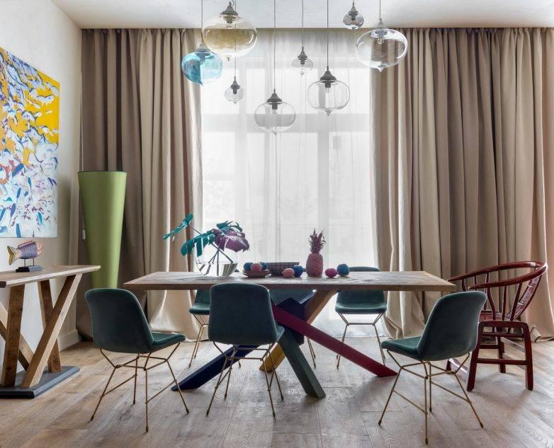 110 самых стильных идей для штор на кухню