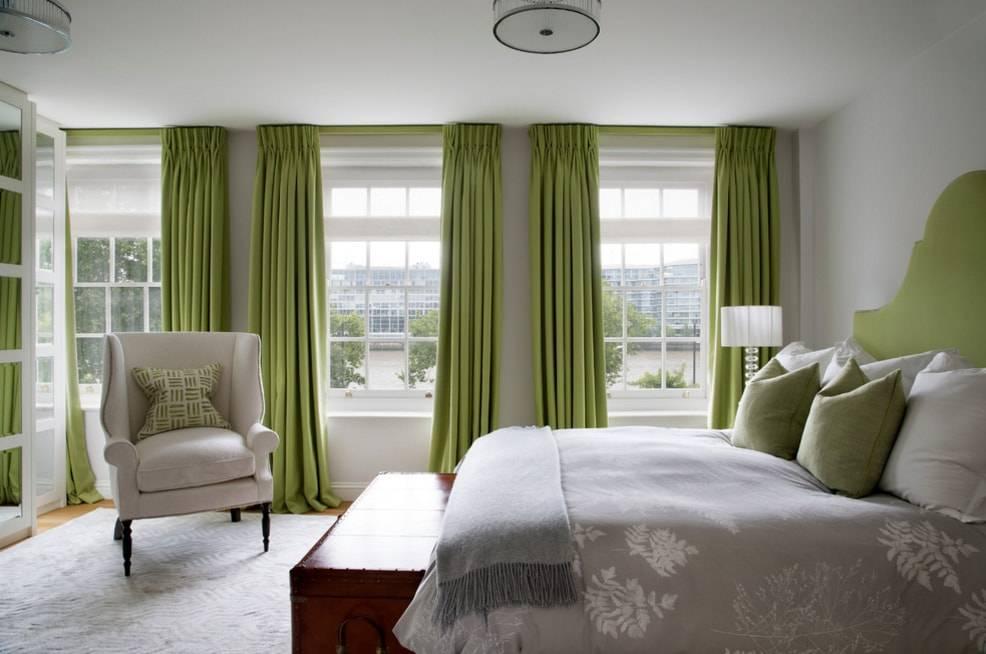 Зеленые тона в интерьере спальни - фото дизайна и сочетаний оттенков
