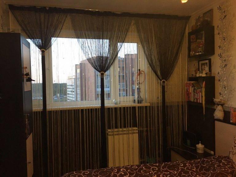Нитяные шторы в современном интерьере — советы по выбору
