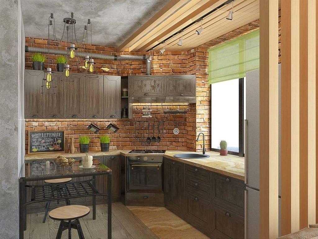 110 самых стильных кухонь в стиле лофт