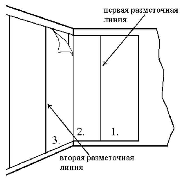 Как правильно клеить обои в углах комнаты: с какого места лучше начинать поклейку внешних и внутренних углов, как наклеить варианты с рисунком