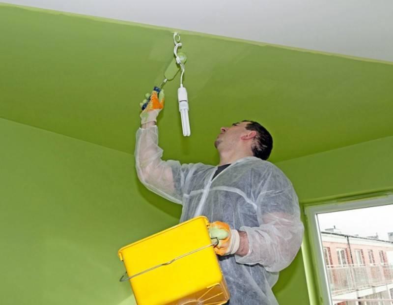 Как покрасить потолок валиком своими руками: пошаговая инструкция