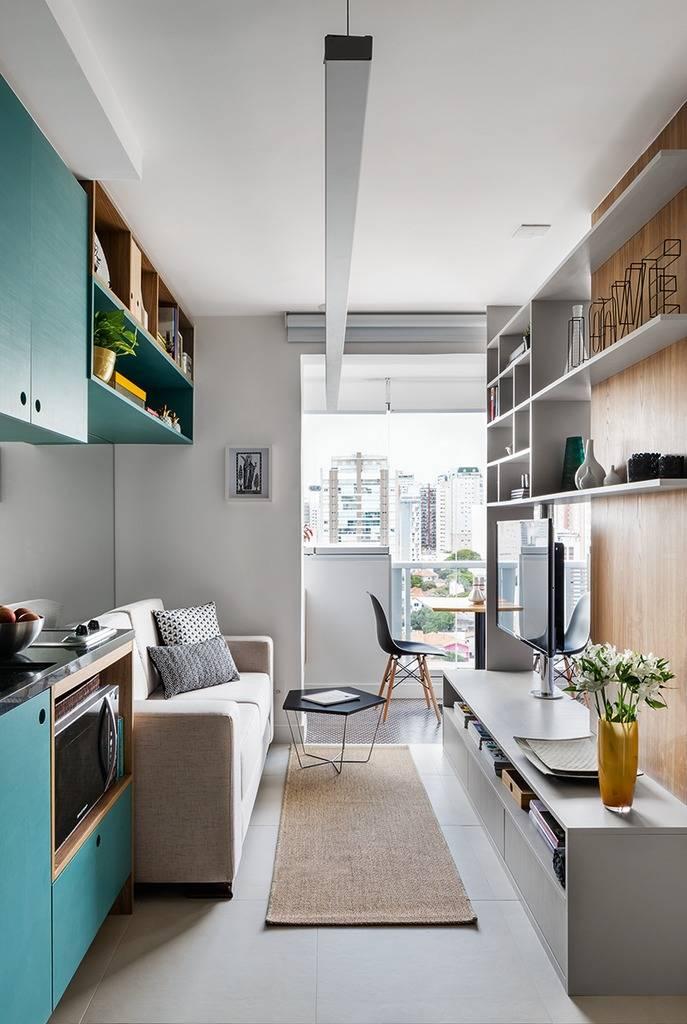 Дизайн квартиры-студии 50 кв. м (46 фото): планировка кухни и гостиной в квартире 37, 45-46 и 60 кв. м, варианты интерьера