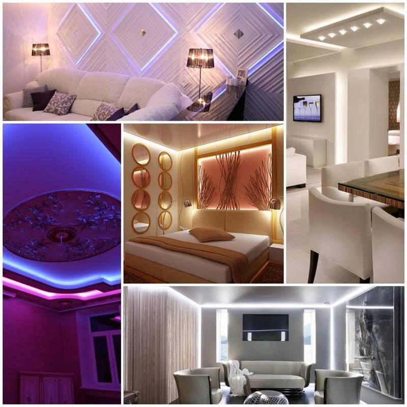 Освещение комнаты без люстры: примеры для спальни и гостиной (150+ фото)