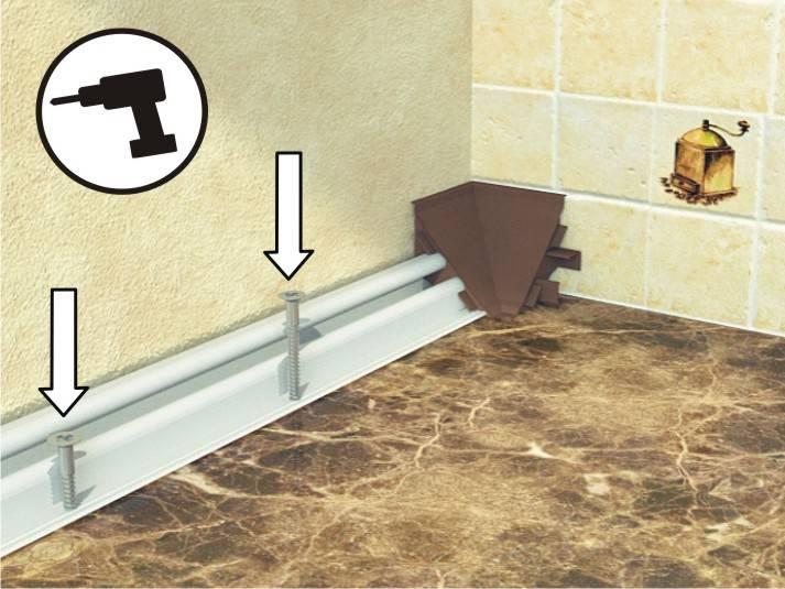 Как крепить плинтус к столешнице на кухне - подробная инструкция!