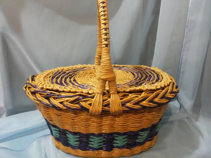 Корзинки из газетных трубочек (83 фото): мастер-класс по плетению корзин из газет для начинающих, различные способы и пошаговые инструкции