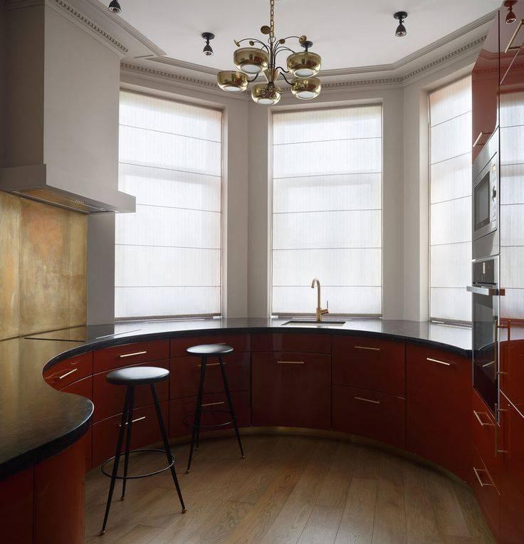Кухня с эркером: рациональное использование и нетипичный подход