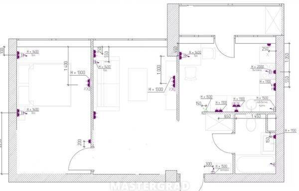 Розетки в спальне - выбор места и высоты размещения розетки в современной спальне