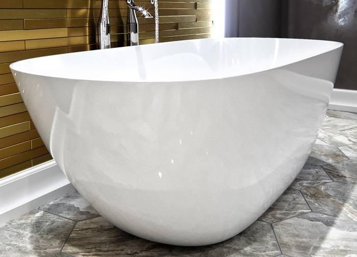 Ванна эстет из литьевого мрамора — особенности материала, плюсы и минусы
