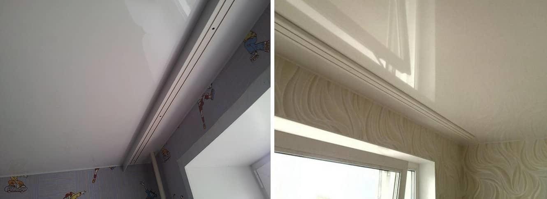 Какие карнизы для штор под натяжные потолки лучше всего выбрать