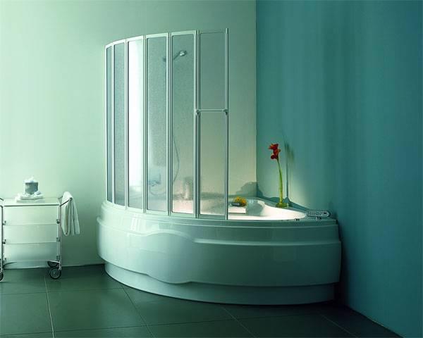 Виды стеклянных шторок для ванной