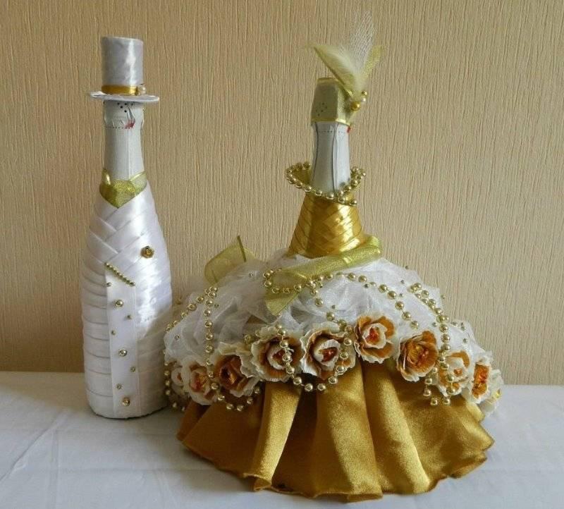 Как украсить бутылки шампанского на свадьбу своими руками: 5 классных идей и 59 примеров на фото для вдохновения