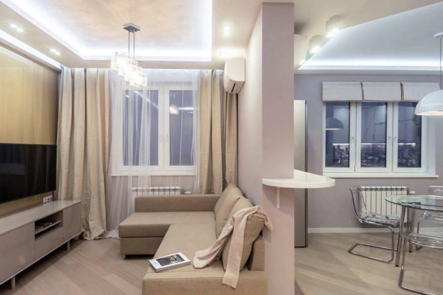 Дизайн квартиры 45 кв. м: 75 фото примеров однокомнатной и двухкомнатной