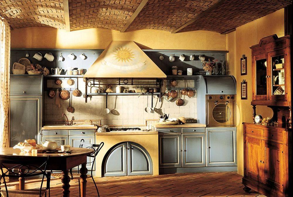 Оформление кухни в стиле кантри: сочетание деревенских стилей