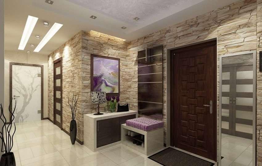 Декоративная штукатурка для внутренней отделки в коридоре – особенности выбора и применения - 31 фото