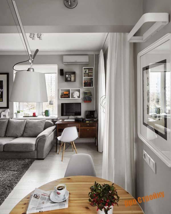 Дизайн однокомнатной квартиры площадью 30 кв. м без перепланировки (33 фото): зонирование интерьера в «хрущевке», выбор отделки и обустройство