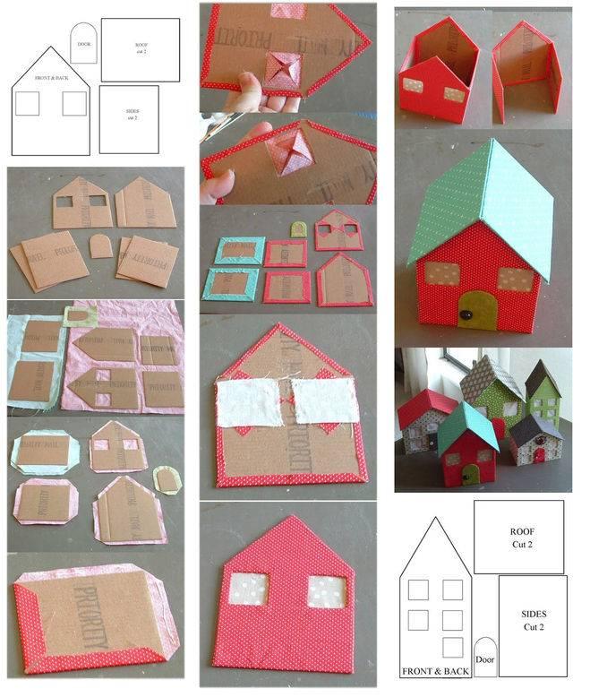 Поделка домик: лучшие идеи из подручных материалов. 130 фото и пошаговый мастер-класс