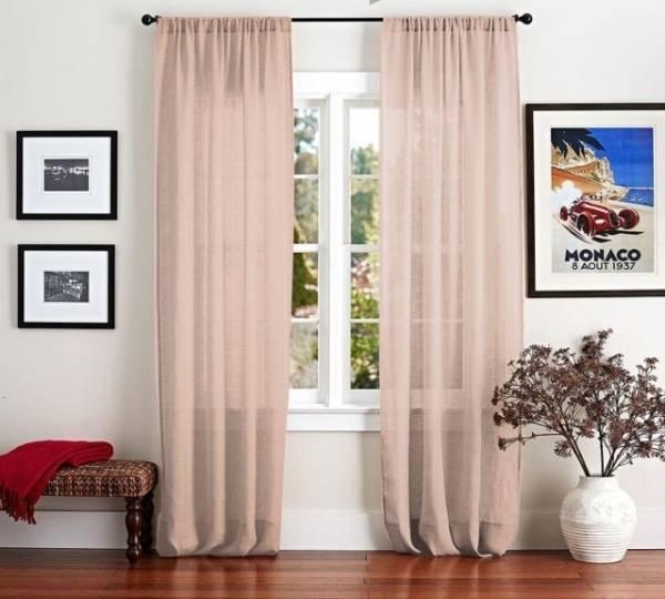 Льняные шторы: подбор ткани и варианты использования в дизайне (125 фото-идей)