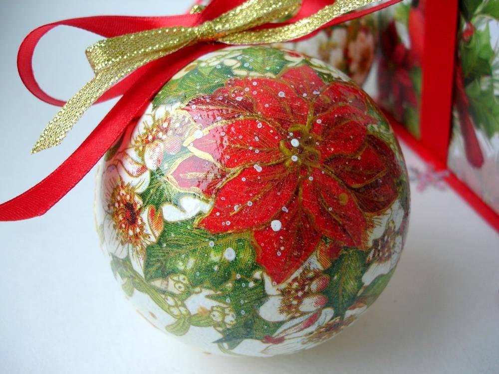 Декупаж - это просто! новогодний шарик.