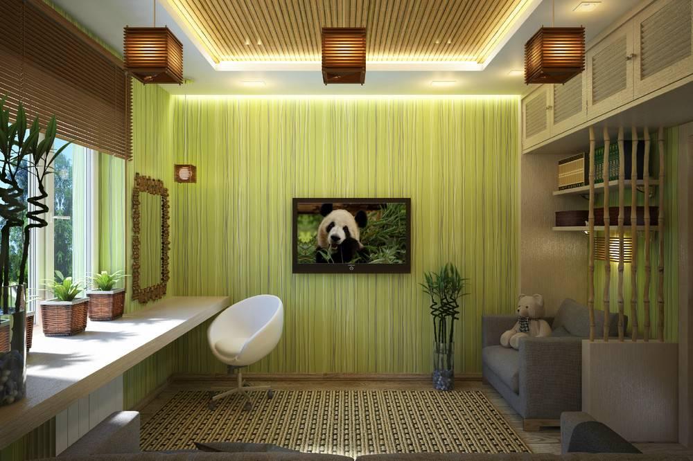 Кухня с потрясающей бамбуковой мебелью и неограниченными возможностями для хранения