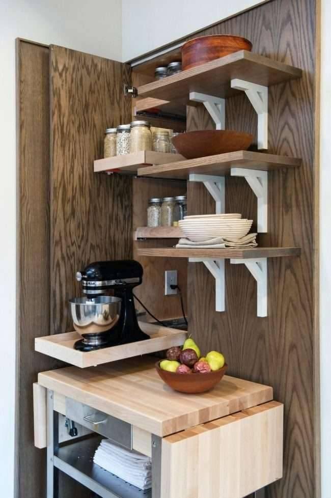 Открытые полки на кухне — 55 фото идей использования в дизайне