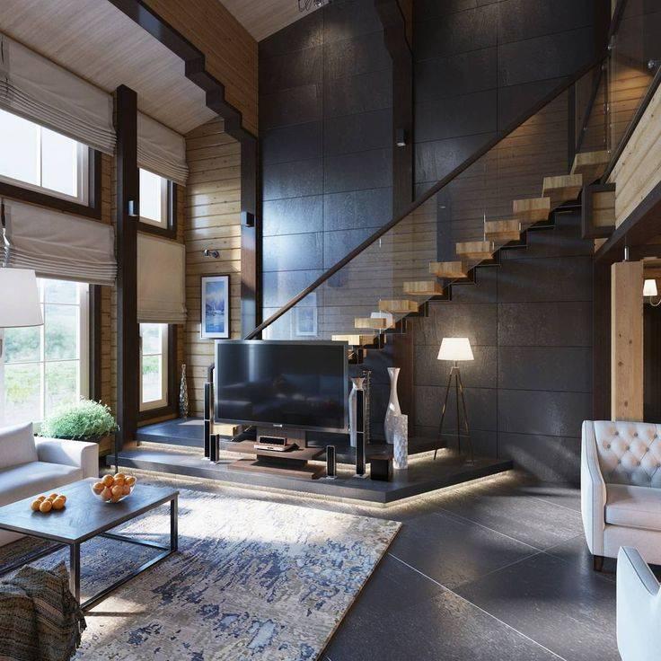 Дизайн проект внутренней отделки коттеджа, дизайн интерьера частного дома, фото