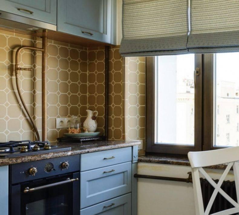 Как красиво и безопасно спрятать газовую трубу на кухне?