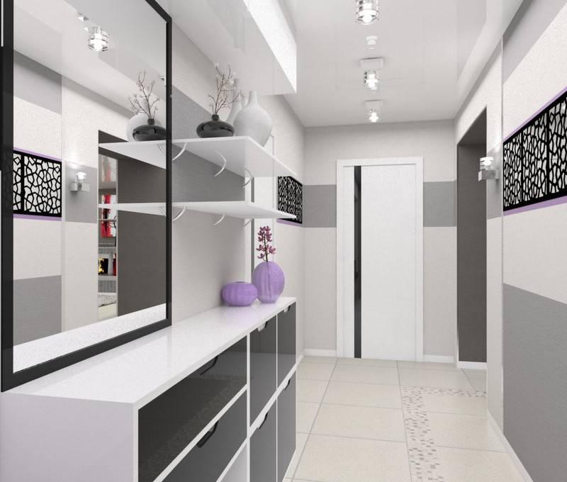 Эффектный дизайн прихожей в панельном доме