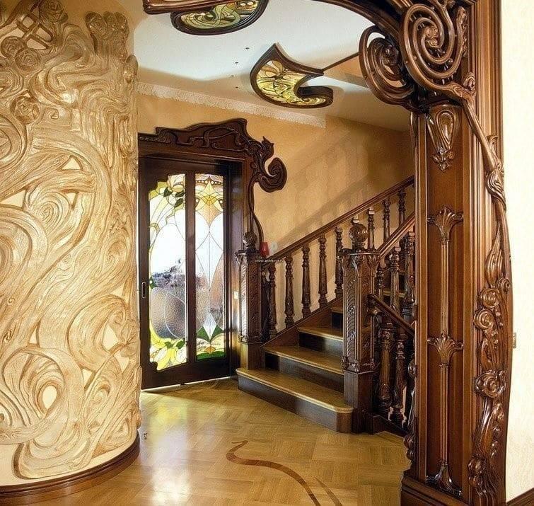 Арт-нуво стиль в интерьере квартиры или дома (фото, видео) - 8 фото