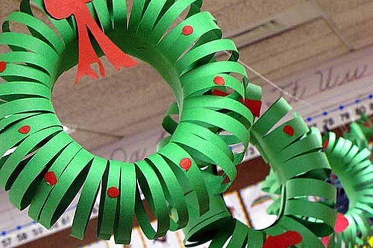 Новогодние гирлянды своими руками: идеи, шаблоны, фото с описанием