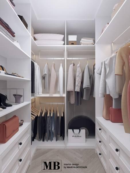 Как оформить гардеробную комнату небольшого размера.