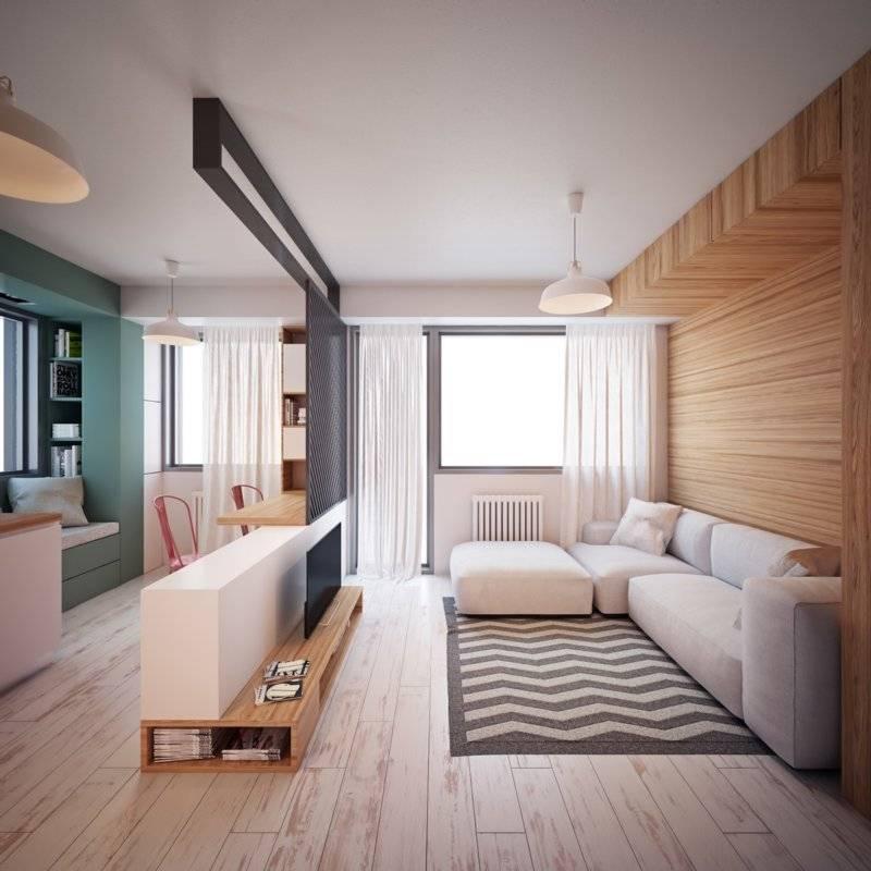 Разработка дизайна комнаты 20 метров гостиная-спальня: 6 приемов зонирования