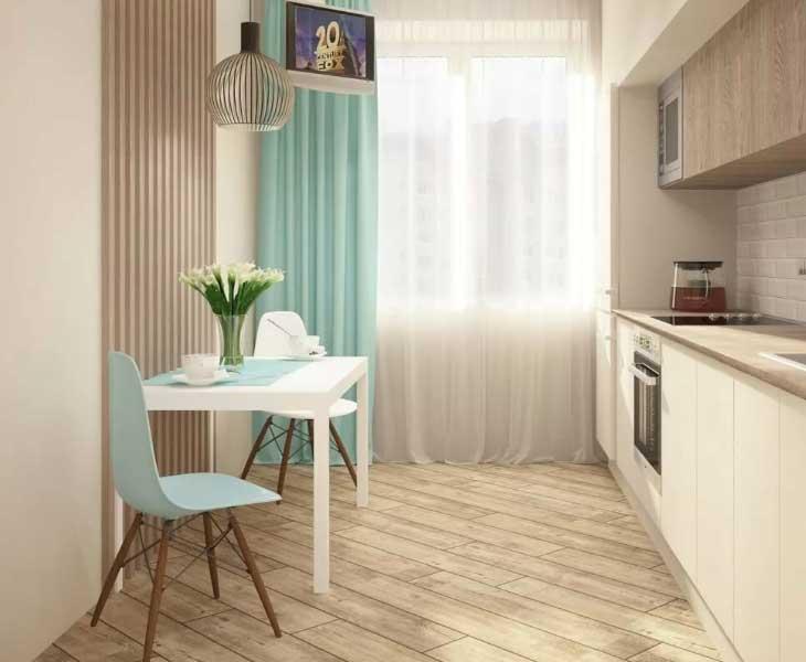 Дизайн кухни 9 кв.м.: 75 вариантов планировки, особенности